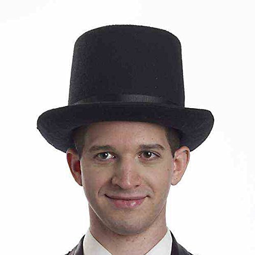 [Forum Men's Novelty Super Deluxe President Hat, Black, One Size] (Abraham Lincoln Deluxe Adult Costumes)
