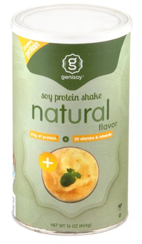 Genisoy Soy Protein Natural Shake, 16-Ounce Canisters (Pack of 2)