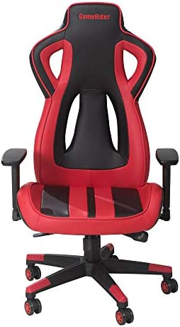 GameRider Air Flow Racer Gaming Chair, 27.17×27.56×54.33 inch, Red Black