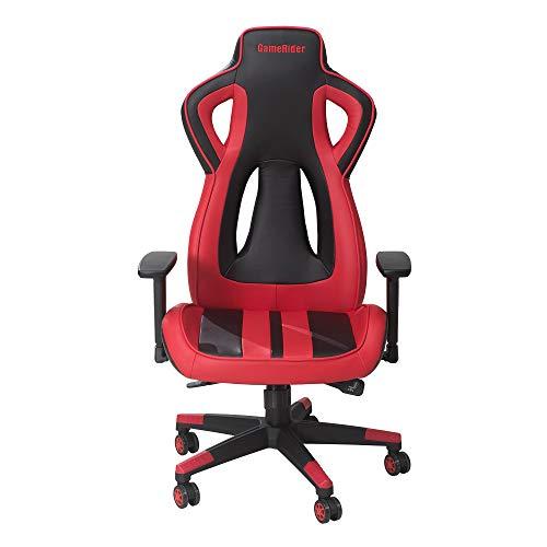 GameRider Air Flow Racer Gaming Chair, 27.17×27.56×54.33 inch, Red Black