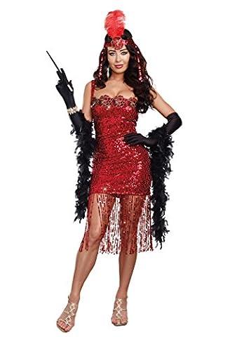 Dreamgirl Women's Ain't She Sweet Costume, Red, Large - Adult Dreamgirls Costume