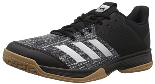 adidas Women's Ligra 6 Volleyball Shoe, Black/Silver Metallic/White, 7 M US