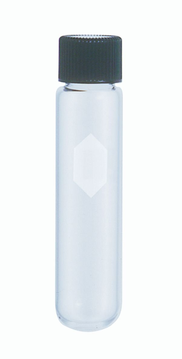 Kimble 45212-50 Glass Conical Bottom 50mL Heavy-Duty Centrifuge Tube with Screw Cap, Clear (Case of 12) by Kimble