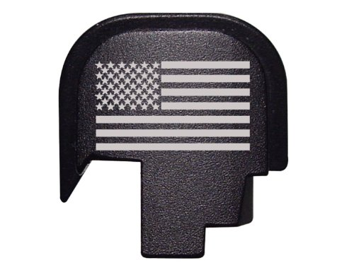 Slide Cover Plate for Smith & Wesson S&W M&P SHIELD pistol 9mm .40, Star & Stripes / American Flag design, by Fixxxer LLC