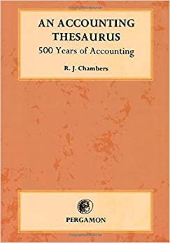 An Accounting Thesaurus: 500 years of accounting