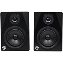 "Rockville APM5B 5.25"" 2-Way 250W Active/Powered USB Studio Monitor Speakers Pair, Black"
