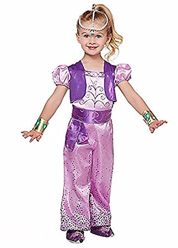 Nickelodeon Shimmer and Shine - Shimmer Costume - Toddler / Child (2T- 4T) (Nick Jr Halloween Costumes)