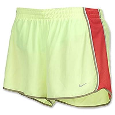 Nike Women's Tempo Shorts (X-Small, Liquid Lime/Siren Red/Khaki/Julep)