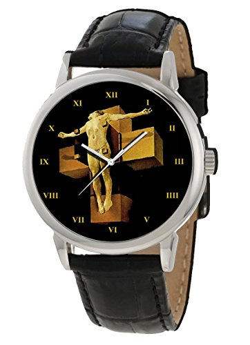 THE CRUCIFIXION OF CHRIST, IMPORTANT SALVADORE DALI SURREALISM CHRISTIAN ART COLLECTIBLE WRIST WATCH