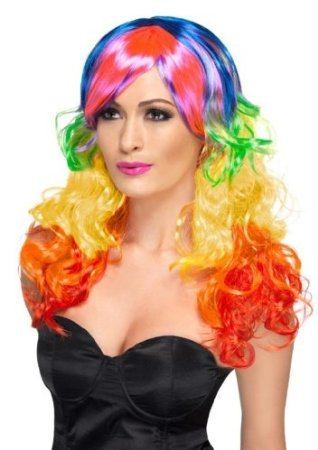 Rainbow Curl Wig Costume Accessory - Curls Halloween Wig Shopping Results