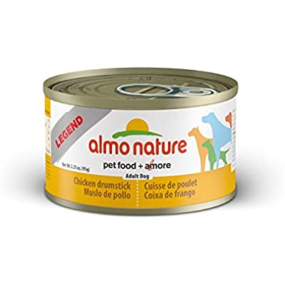 Almo Nature 2100 Legend Dog Chicken Drumstick Pet Food, 24 X 95 G/3.35 Oz