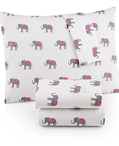 Martha Stewart WHIM Collection 100% Cotton Sheet Set Lucky Elephants (Twin) -