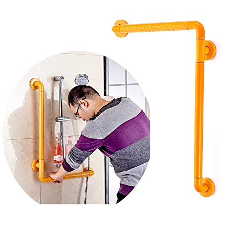 (Curved Grab Bars for Bathroom Toilet, Shower aids Accessibility Safety Handrails, Bathtub Arm Grips for Elderly Disabled Pregnant Women -Yellow GXFC Shop (50 x 70 cm))