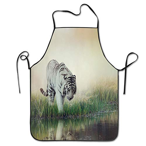 - PoppyAnthony Wildlife Animal Nature Decor Tiger Leopard Wild Animals in Jungle Forest Cooking Apron Personalized Chef Apron for Women Men Kitchen Bib Apron