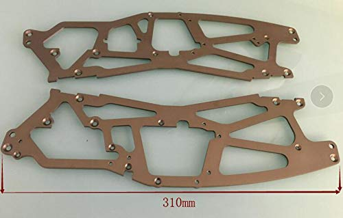 (Part & Accessories HPI Racing #HB61176 Long chassis plates HPI SAVAGE 1inch longer Hot body Truck #73919 - SUPER TVP CHASSIS 2.5mm SET (7075S/GRA)