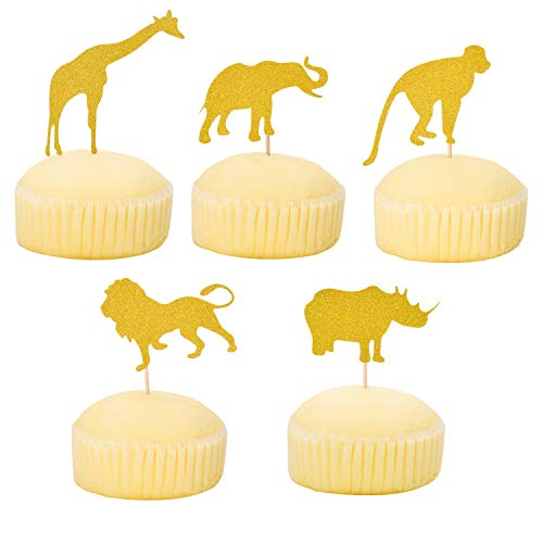- Morepack Animal Cupcake Toppers and Wrappers, for Party Cake Decoration, Birthday Party Decors And Baby Show (30 Piece)