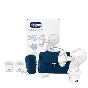 Chicco - Sacaleche eléctrico portátil con copa de silicona y accesorios