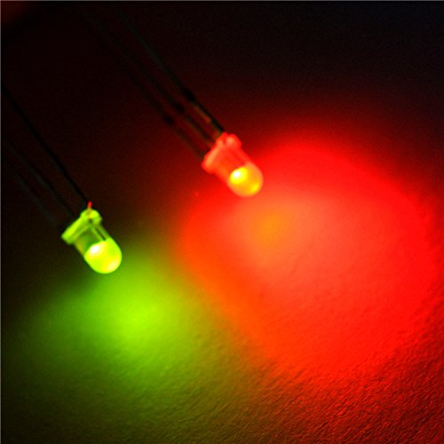 5000pcs x 3mm Red/Green Diffused Bright 3-Pin Led Common Anode Leds by Easybuyseller