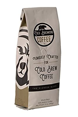 Pioneer Blend: Uniquely Crafted Cold Brew Coffee Beans- Low Acidity Coffee- Whole Bean Coffee- 12 oz- Micro Roasted- 100% Arabica Coffee by Cold Brewers Coffee Co.