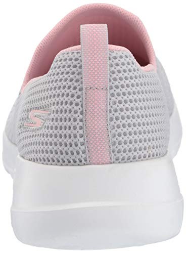 Walk Skechers Light On Slip Sneaker centerpiece Go pink Damen Gray Joy UUgEB