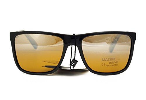 negro Negro de sol Drive Matrix para M hombre Gafas wn0qfxgOv