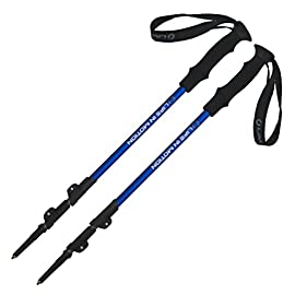 Pair of Life In Motion Trekking / Hiking / Walking Poles Sticks durable lightweight collapsible / telescoping.