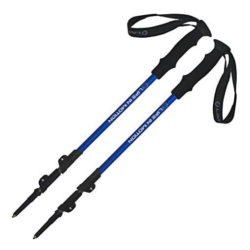 Pair of Life In Motion Trekking / Hiking / Walking Poles Sticks durable lightweight collapsible / telescoping.