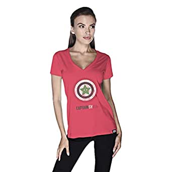 Creo Captain Syria T-Shirt For Women - Xl, Pink