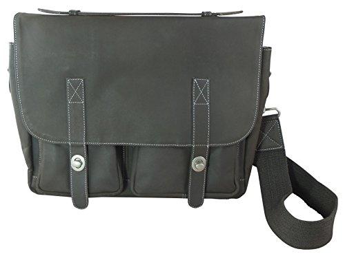 Bull & Hunt klassische Handtasche Leder groß - Old School - Wendefunktion der Überschlaglasche