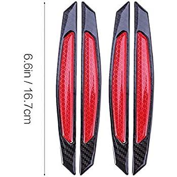 4x Door Guard Protectors Edge Strip Reflectors Red For Rover