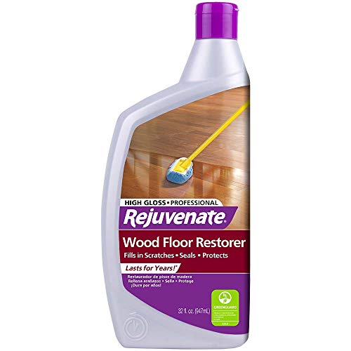 Rejuvenate Professional Wood Floor Restorer Polish with Durable Finish Non-Toxic Easy Mop On Application Dries in as Little as 45 minutes Residential and Commercial Use