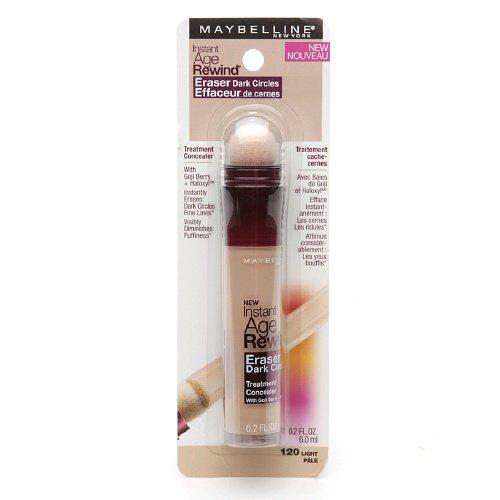Maybelline Instant Age Rewind Eraser Dark Circles Treatment Concealer, Light 0.2 oz (Pack of 2)