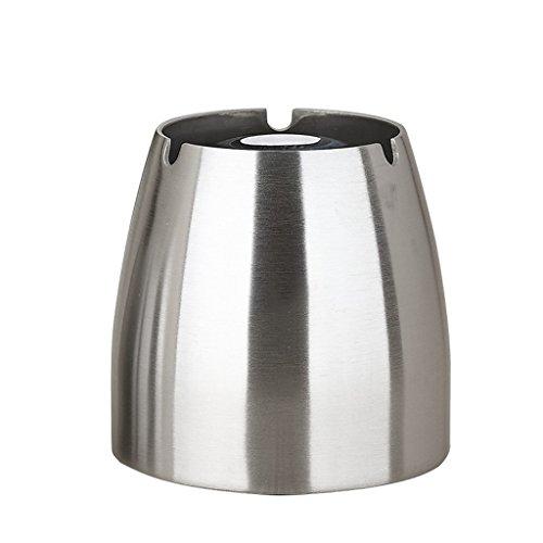 Cenicero de Acero Inoxidable - Creativo con Cubierta Grande, hogar Personalizado Trend Office Living Room Cenicero de Metal a...