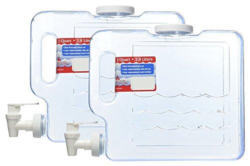 - Arrow Plastic 00747 Compact Beverage Container, 3-Quart - 2 Count