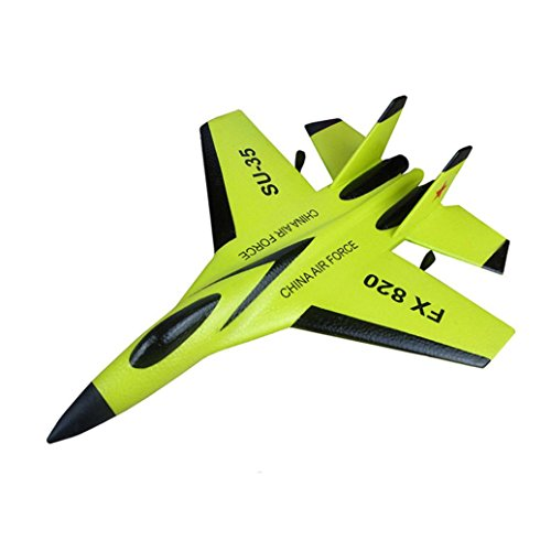 Shybuy Glider Planes Fighter Jets Fun Toys Foam Glider Airplane - Fun Gift, Party Favors, Party Toys (Yellow) (Predator Rc Plane)