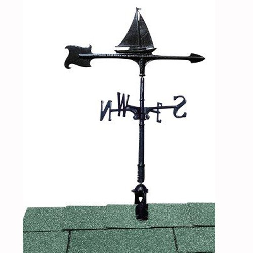 Whitehall Products Sailboat Accent Weathervane, 30-Inch, Black ()