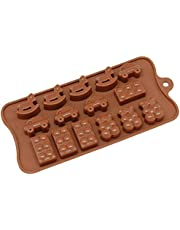 Silicone Chocolate Candy Molds - Non Stick, BPA Free, Reusable 100% Silicon & Dishwasher Safe Silicon - Kitchen Rubber Tray For Ice, Crayons, Fat Bombs and Soap Molds