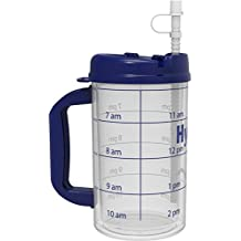 Hydr-8 Gallon 32oz Insulated Time Marked Water Bottle