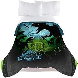 "Universal Jurassic World Biggest Growl 72"" x 86"" Microfiber Comforter, Twin/Full"