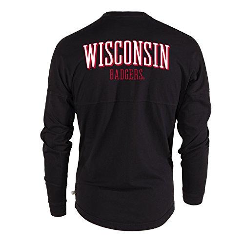 Official NCAA Venley Wisconsin Badgers UW Women's Long Sleeve Spirit Wear Jersey T-Shirt (Womens 07 T-shirt)