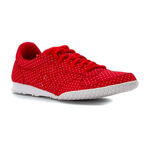 Saucony Originals Women's Bullet Dots Fashion Sneakers, Red, 7 M US