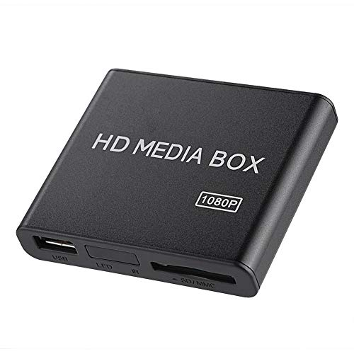 Serounder 1080p HD Media Player, Mini VGA Home Theatre Media Player Box Support MMC RMVB MP3 AVI MKV with Remote Control Supports SD Cards and USB Devices (UK Plug)(US Plug) (Best Streaming Device Uk)