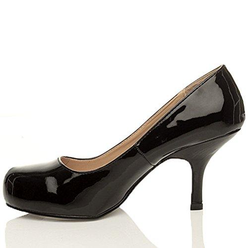 Damen Kleiner Mittel Absatz Versteckte Plateau Arbeit Schuhe Pumps Größe 3 36