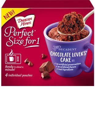 Duncan Hines Perfect Size For 1 Cake Mix (Chocolate Lovers Cake)