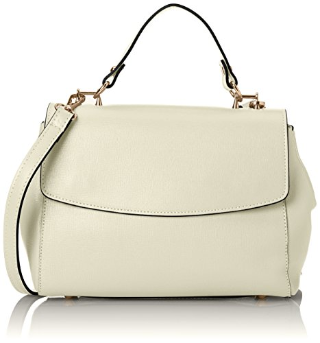 Ctm Hand Clutch Woman Saffiano Model Shoulder Belt Adjustable In The Interior, Genuine Leather Made In Italy - 29x20x9 Cm Beige