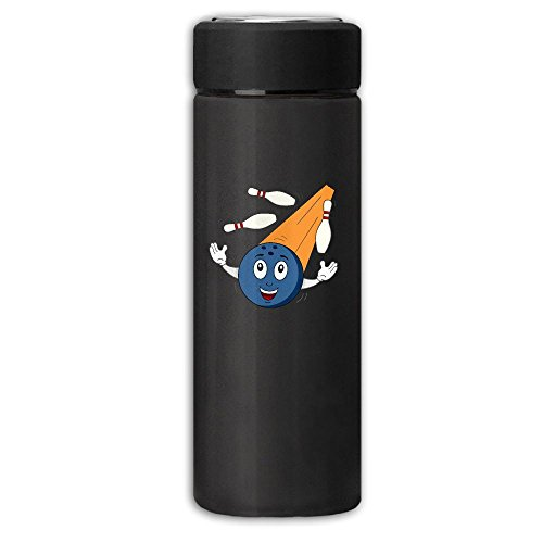 Bowling Ball With Skittles Vacuum Cup Stainless Steel Dull Polish Travel Mug With Tea Leaf Filter,Business Beverage ()