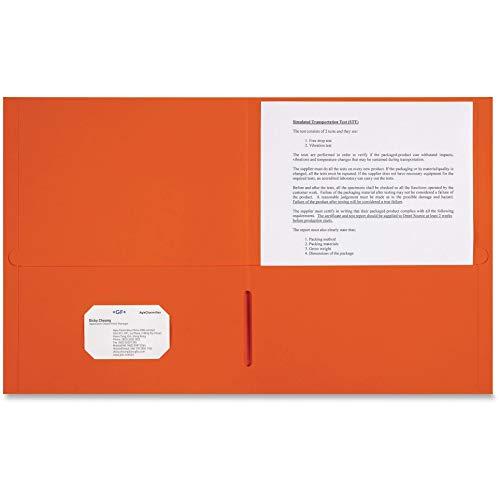 Sparco 2-Pocket Leatherette Portfolio - Letter - 8 1/2