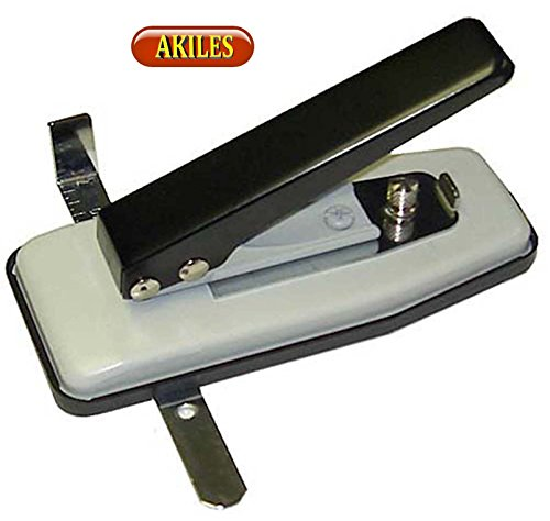 Akiles Id Card Badge Slotted Hole Punch with Side and Depth Guides Desktop Card Slotting Tool  ()