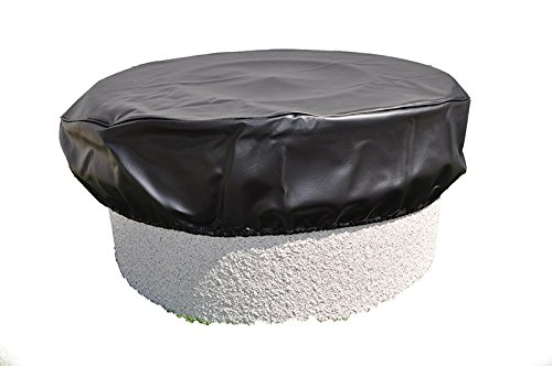 HPC Round Black Vinyl Fire Pit Cover, 64 Inch by Hearth Products Controls