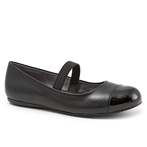 - Softwalk Womens Napa Mj Flats Black Leather, Size-8.5W